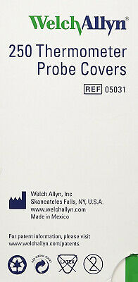 Welch Allyn Probe Covers for SureTemp 690 and 692 Thermometers 250/Box 05031-750