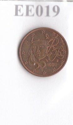 EE019 Moneta Coin FRANCIA: 1 Euro cent 1999