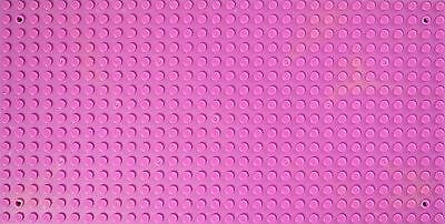 Pink Base Plate 16X32 Studs Baseplate (Holes On Corner) Lego Compatible