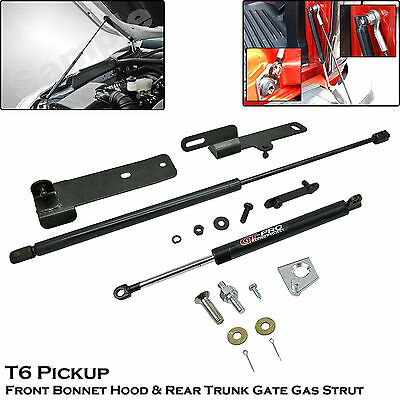 Front Bonnet + Rear Trunk Shock Strut Damper For Ranger T6 Pickup Truck 2012+++