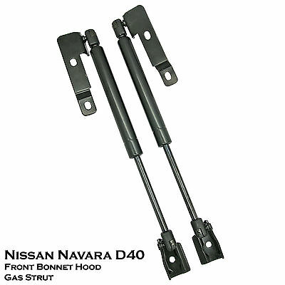 Front Hood Bonnet Shock Strut Damper Lift Supports For Nissan Navara D40 05-14