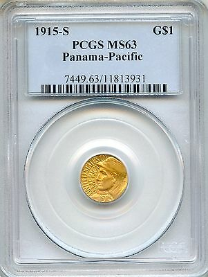 1915-S Panama-Pacific G$1 PCGS MS63 ~ Commemorative Gold Dollar (11813931)
