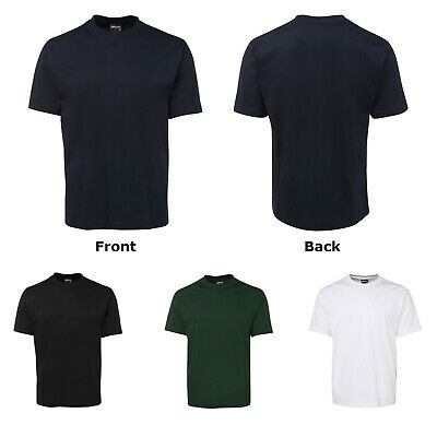 Mens Plain 100% Cotton T-Shirt Adults Unisex Blank Tee Shirt | Plus Size S-7XL