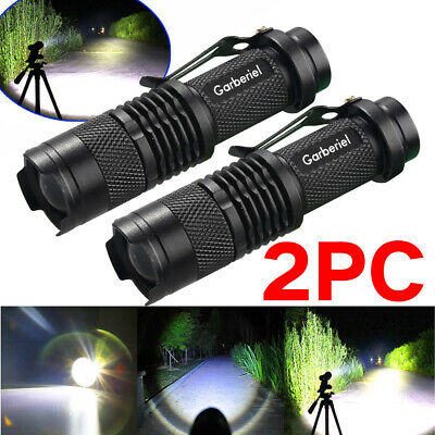 2x Ultrafire 5000Lumen CREE T6 LED Rechargeable Flashlight Torch Super Bright US
