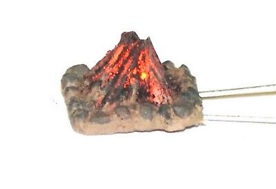 Langley Models Small Working Camp Fire OO Scale UNPAINTED Metal Model Kit F239