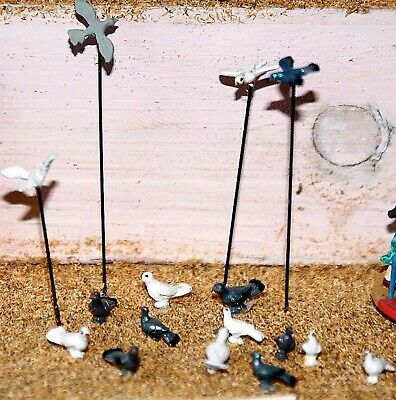 OO Scale Langley Models Kit (1:76) 10 Assorted Doves & pigeons Unpainted! F148