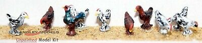 OO Scale Langley Models Kit (1:76) 10 chickens & 1 cockerel  Unpainted! F142
