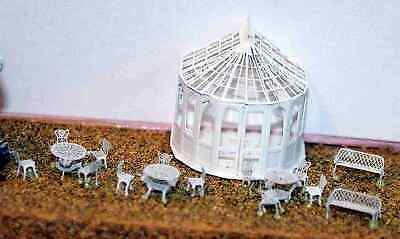 N Scale Unpainted Langley Models Kit Conservatory, chairs & tables A48