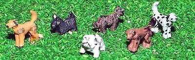 N Scale Unpainted Langley Models Kit 6 Assorted Dogs A66
