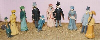 Langley Models Victorian Edwardian upper Class figures OO Scale PAINTED F8p