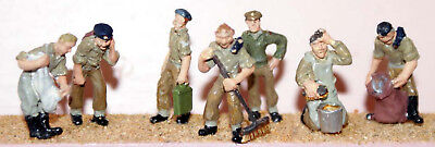 Langley Models 7 Army personnel 40/50's OO Scale Metal Model PAINTED F170ap