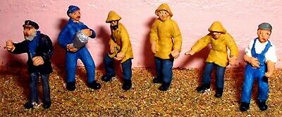 OO Scale Model READY MADE & PAINTED Fisherman / Trawler-man Figures F206p
