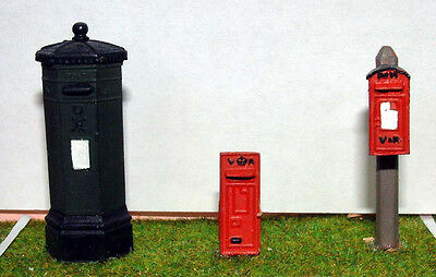 O Scale Unpainted Model Kit L1 Victorian English Letter Box Post Box Mail Boxes