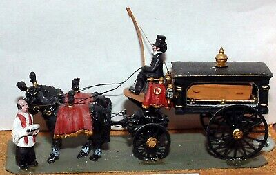 OO Scale Unpainted Model Kit Victorian horse drawn Hearse Funeral Carriage G18