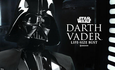 Sideshow STAR WARS DARTH VADER LIFE SIZED BUST Prop Replica In Stock