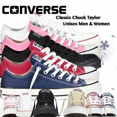 Converse Women  Men Unisex All Star Low Tops Chuck Taylor Trainers FREE POSTAGE