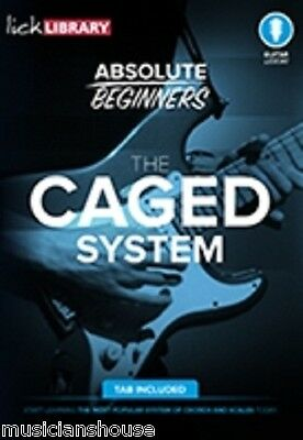 LICK LIBRARY Learn To Play ABSOLUTE BEGINNERS CAGED SYSTEM Rock GUITAR DVD TAB