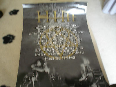 H.I.M Concert Poster...Dates for the 2004 Tour of the USA