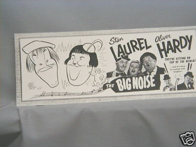 Laurel Hardy Ticket Booth window card coming attraction