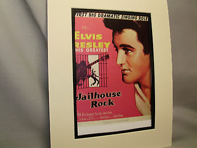 Elvis Presley in Jailhouse Rock Ticket Booth Window Movie Card Illustrated Color