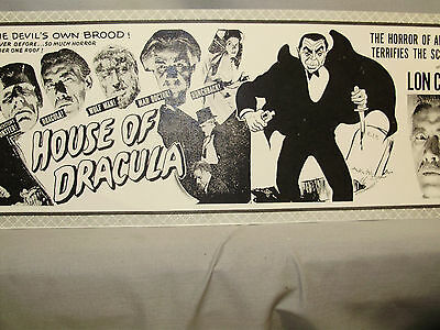 Lon Chaney in House of Dracula Coming Attraction Movie  Window Card