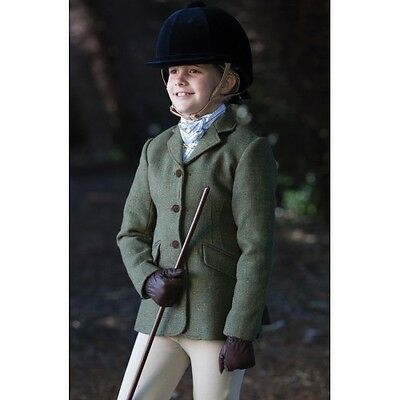 Equetech - Junior Claydon Tweed Riding Jacket - Hacking Jacket - Pure New Wool