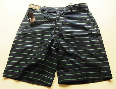 GOLF SHORTS  RALPH LAUREN RLX  GREENS SHORT Y/D COOLMAX NAVY GREEN  new tag £100