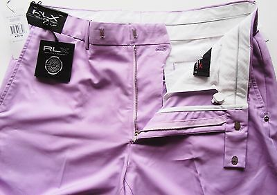 GOLF SHORTS  RALPH LAUREN RLX  CYPRESS SHORT WESLEY PURPLE SIZE 32  new tag £85