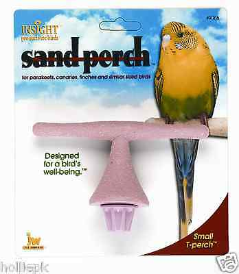 Small Budgie  Canary Finch Bird Sand T Perch Bolts To Wire Cage New