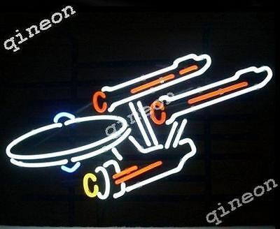 New Star Trek Enterprise Space  REAL NEON SIGN BEER BAR PUB LIGHT Fast Shipping