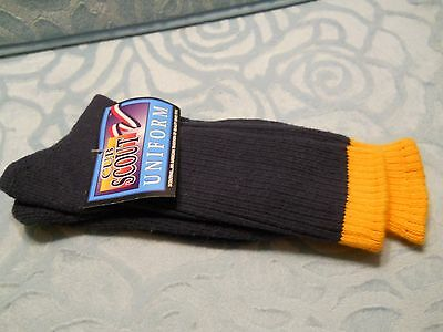 NEW 1 Pair Cub Scout Uniform Socks Size 10-13 Official Equipment Of Boy Scouts
