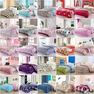 A-Series 100% Cotton Single Piece Duvet/Quilt Cover Twin Full Queen King Size