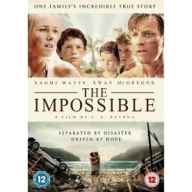 THE IMPOSSIBLE (Tsunami Movie)  DVD - REGION 2 UK