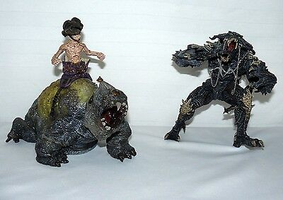 Lot Set Of 2 Scary Monster Figures Unknown Names