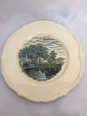 "Grindley England Scenes After Constable The Hay-Wain 9"" Black Dinner Plate"