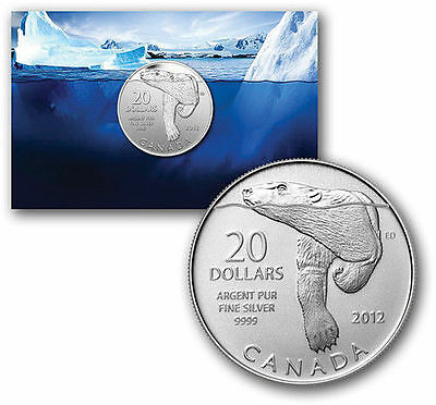 2012 $20 Canada Silver Coin Polar Bear Pure .9999 (Three Coin Lot)