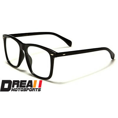nerd men women unisex geek retro square frame clear lens eye glasses fashion new