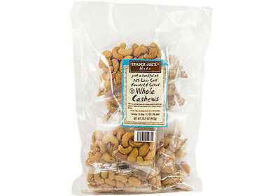 Trader Joe's Just a Handful of 50% Less Salt Roasted & Salted Whole Cashews