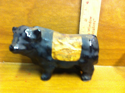 Miniature Scotch Whiskey Whisky Black Bull Jug Decanter . Empty