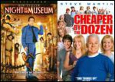 Night at the Museum/Cheaper by the Dozen [2 Discs] (2007, DVD NUEVO) (REGION 1)