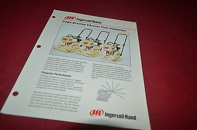 Ingersoll Rand Single Direction Vibratory Plate Compact Dealer's Brochure DCPA6