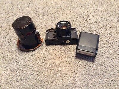 Vintage Sears 35mm Camera With Flash And Extra Lens