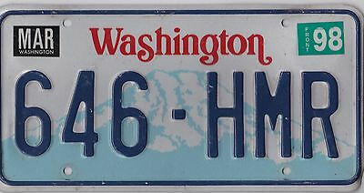 👌🚨🚨☀ Authentic Usa  Washington 1998 License Plate.   646-Hmr ★•☆•★▄▀▄▀▄█▓