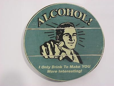 Bali Wooden Beer Coaster, Alcohol, Large Size. Singlet. Sticker, Decal, Bintang