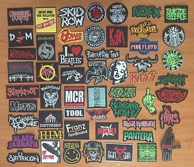 Heavy Metal Rock Punk Retro Music Band Sew Iron On Embroidered Patch Applique