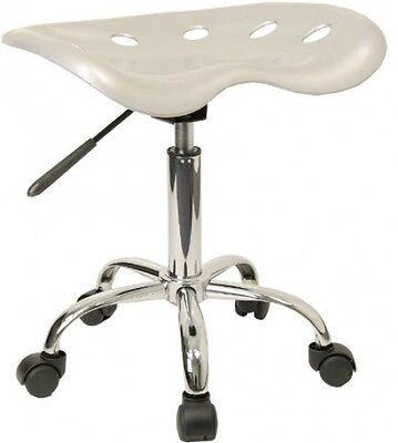 Flash Furniture LF-214A-SILVER-GG Vibrant Silver Tractor Seat And Chrome Stool
