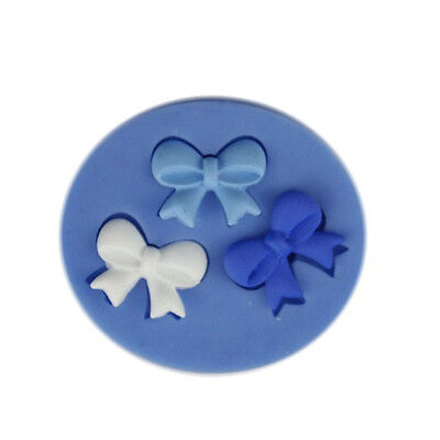 3D Bow Bowknot DIY Fondant Cake Chocolate Sugarcraft Mold Cutter Silicone Tools