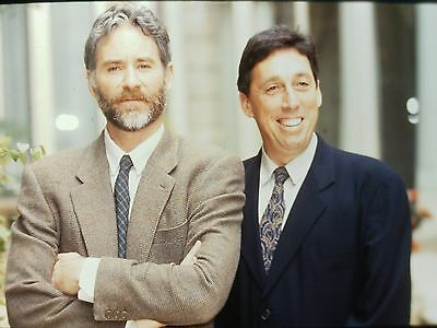 "KEVIN KLINE & IVAN REITMAN in ""Dave"" - Original 35mm COLOR Slide - 1993"