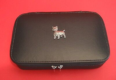 West Highland Terrier Travel Jewellery Box Gift Mother Jewelry Box Westie NEW