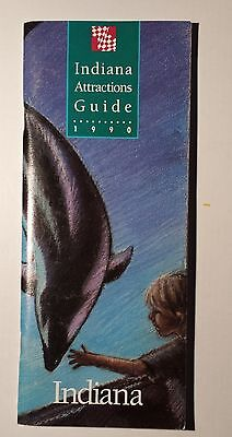 1990 Indiana Attractions Guide Advertising Travel Brochure